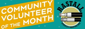 community volunteer of the month button