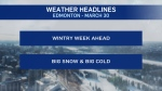 weather headlines, March 30