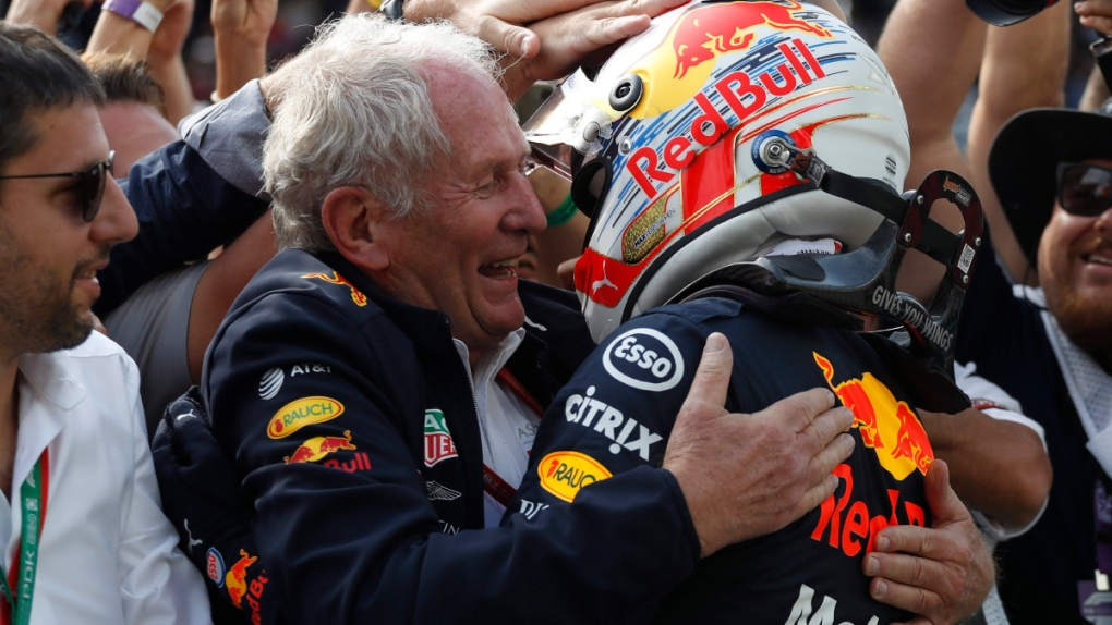 Helmut Marko, left, in 2019