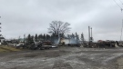 The burned remains of Country Sisters Coffee Plus seen after a fire on March 30, 2020. (Tegan Versolatto / CTV Kitchener)