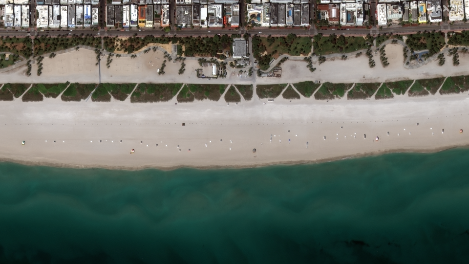 South Beach in Florida is pictured. (Photo: Maxar)