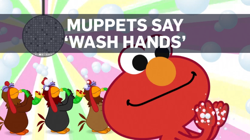 Elmo, Rooster and Cookie Monster star in new animated public service spots to remind their young fans to wash their hands.