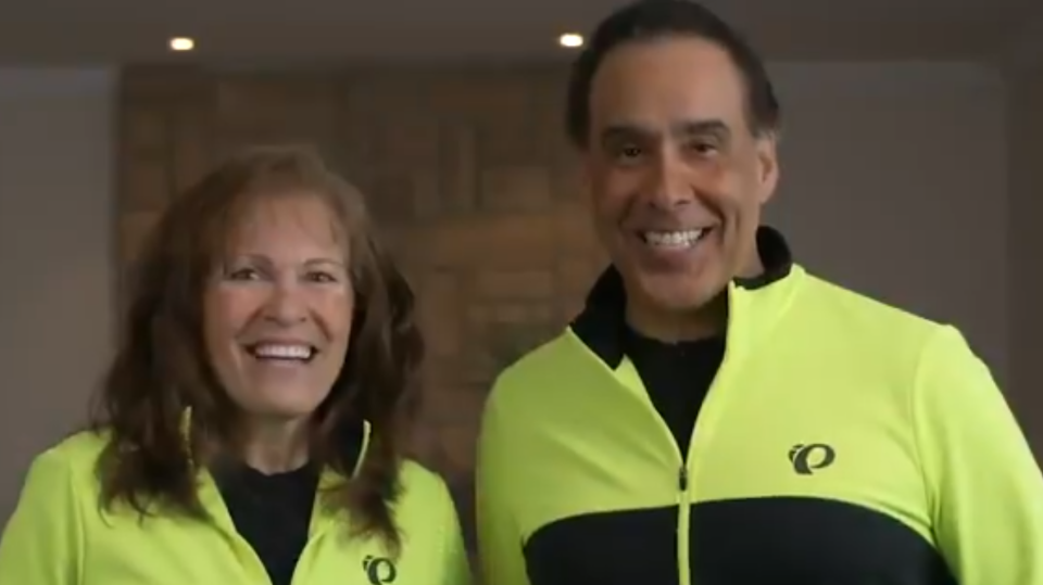 Joanne McLeod and Hal Johnson are shown in a 'Body Break' video released by YVR.