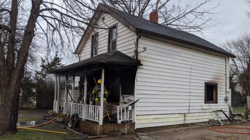 Crews from Chatham-Kent Fire at 24 Brock St. in Chatham, Ont. (Courtesy Chatham-Kent fire)