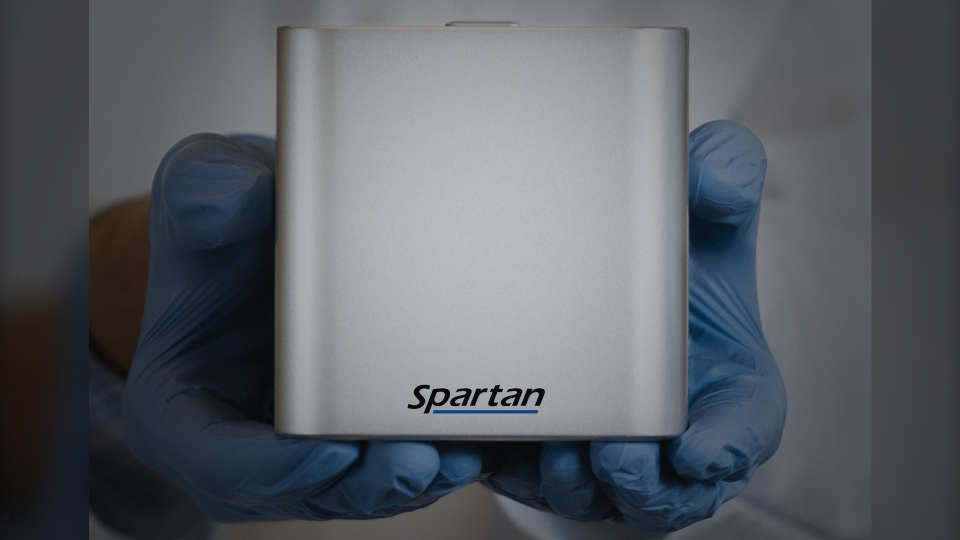 Alberta Health Services says Spartan Bioscience Inc.'s testing device can deliver COVID-19 results in under an hour. March 30, 2020. (AHS)