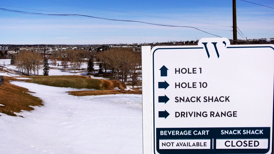 Calgary golfers are holding out hope that they will be allowed to tee off in April at clubs such as the Winston Golf Club
