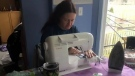 Volunteers sewing masks for CMH