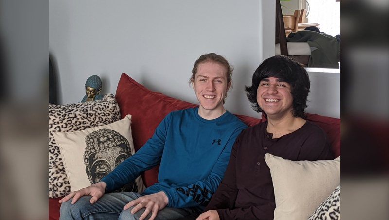 First year University of Lethbridge student Kieran Sayers helped out fellow student Teerth Anand, so that he could remain in Canada during the COVID-19 pandemic