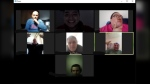 A group video chat with Healing Together Men's Wellness Organization
