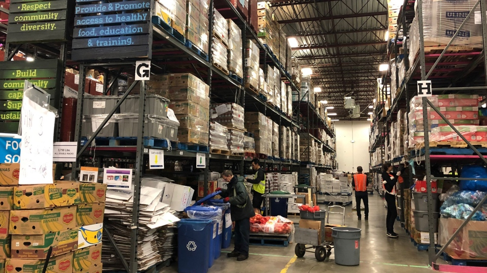 The Greater Vancouver Food Bank normally uses 12 community centres and neighbourhood hubs to distribute food to thousands of people every week.