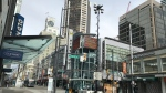The Vancouver Police Department is using its public safety trailer in the downtown core in an effort to deter thieves.