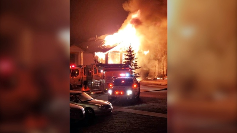 A fire early Monday in Coaldale caused close to $250,000 in damages.