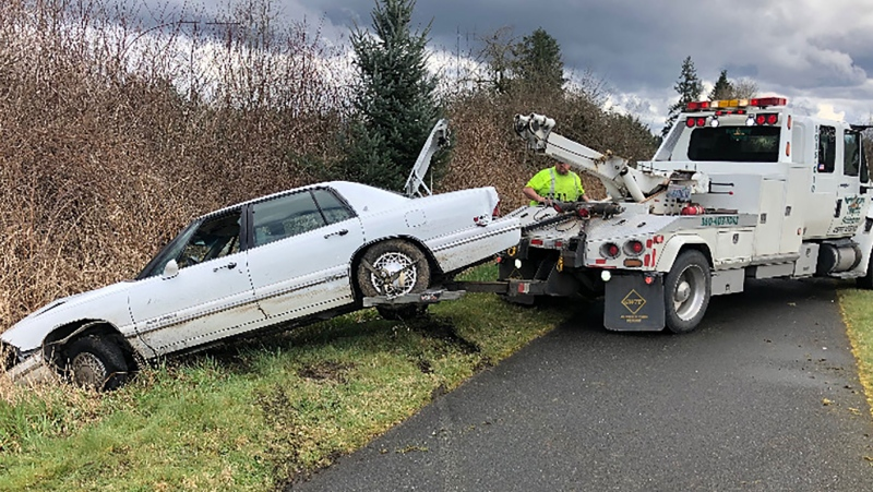 A man was arrested after leading troopers on a high-speed chase with his dog sitting in the driver's seat, a spokeswoman for the Washington State Patrol said. (Washington State Patrol)