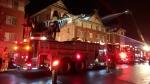 Ottawa firefighters battle a two-alarm blaze at 58 Barnstone Dr. March 31, 2020. (Photo: Scott Stilborn / @OFSFirePhoto / Twitter)