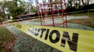 In this Thursday, March 26, 2020, photo, playground equipment is surrounded by caution tape at Wayside Park in Crestview, Fla. Beaches and many public parks and spaces have been closed recently in an attempt to stop the spread of the new coronavirus. (Devon Ravine/Northwest Florida Daily News via AP)