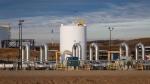 In this Nov. 6, 2015, file photo, a TransCanada's Keystone pipeline facility is seen in Hardisty, Alberta. (Jeff McIntosh/The Canadian Press via AP, File)