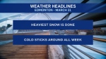 March 31 weather headlines