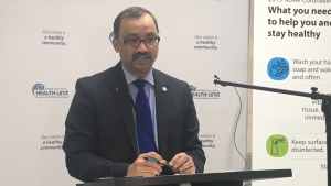 Windsor-Essex medical officer of health Dr. Wajid Ahmed in Windsor, Ont. on Tuesday, March 31, 2020. (Bob Bellacicco / CTV Windsor)