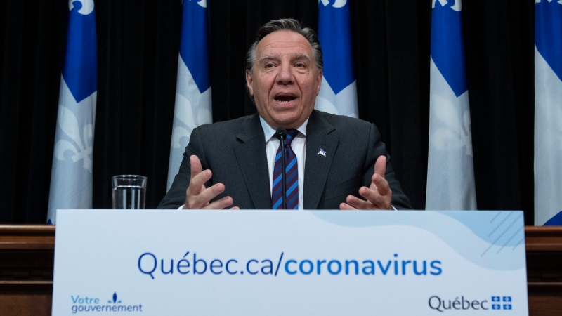 Quebec Premier Francois Legault provides an update on COVID-19 in the province. (CP file photo)