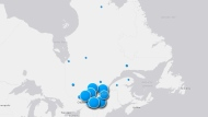 Quebec COVID-19 cases