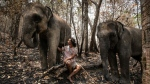 Around 2,000 elephants are currently 'unemployed' as the virus eviscerates Thailand's tourist industry, says Theerapat Trungprakan, president of the Thai Elephant Alliance Association. (Sophie Deviller with Dene-Hern Chen/ © Agence France-Presse)