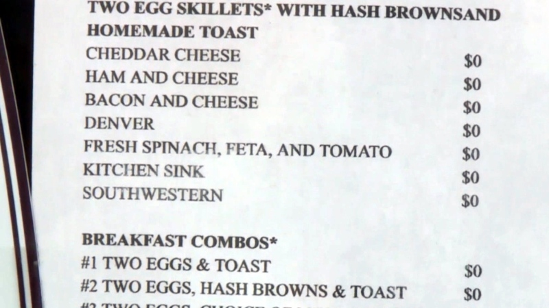 Priceless menu: Wisconsin cafe delivers food for f