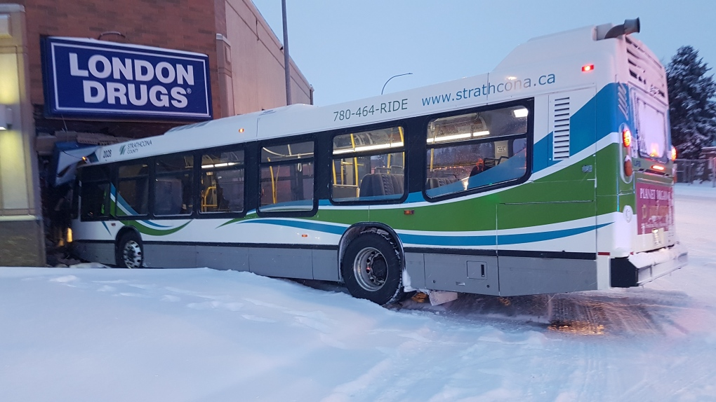 Bus crashed into London Drugs in Sherwood Park