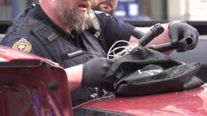 The homemade gun, which police say is capable of firing 12-gauge shotgun shells, was the most alarming find. (CTV News)