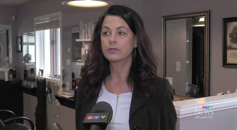 Melinda O'Hearn, the owner of Creative Cuts Salon and Spa in Dartmouth, N.S., was forced to close her business when Nova Scotia began to deal with the outbreak.