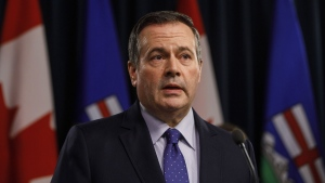 Alberta Premier Jason Kenney updates media on measures taken to help with COVID-19, in Edmonton on Friday, March 20, 2020. Hundreds of Alberta doctors have signed an open letter asking the Kenney government to delay its proposed restructuring of the health care system. THE CANADIAN PRESS/Jason Franson