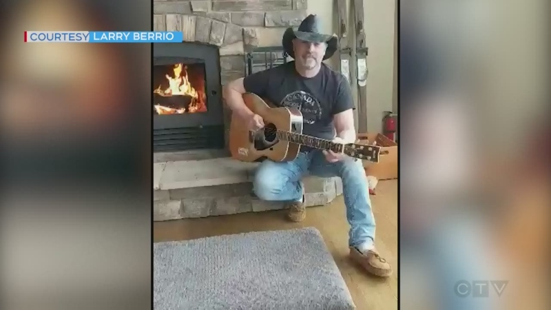 Canadian country singer from northern Ontario performs Eastbound and Down by Jerry Reed, dedicated to all the truckers keeping things moving.
