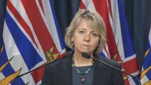 B.C. provincial health officer Dr. Bonnie Henry announces another five deaths from the COVID-19 virus on Tuesday, March 31, 2020.