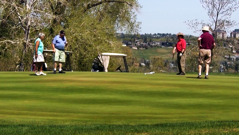 Calgary golfers are hoping health officials give them the go-ahead to start the season in a few weeks. Glenn Campbell reports.