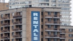 A rental sign hangs on the side of an apartment building in Ottawa on Tuesday March 31, 2020. THE CANADIAN PRESS/Adrian Wyld