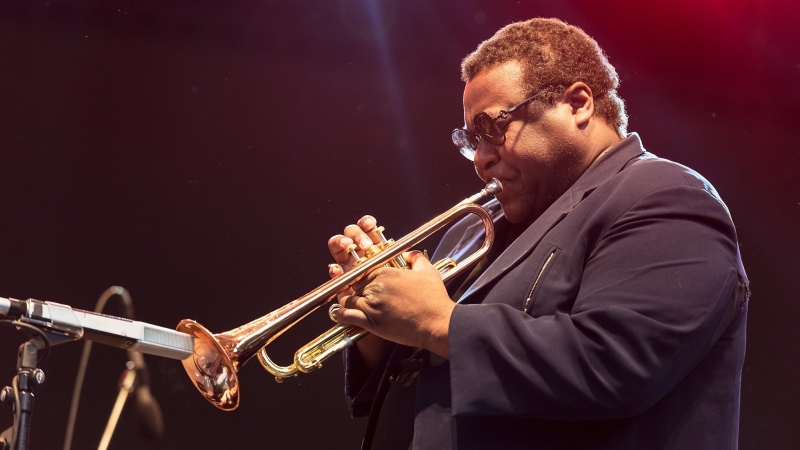 Legendary jazz trumpeter Wallace Roney has died of complications from the novel coronavirus, his publicist said. He was 59. (Jack Vartogan/Getty Images)