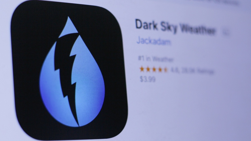 Apple has acquired the popular weather app Dark Sky in a move that could turn the iPhone and smartwatch maker into the exclusive provider of an app known for its minute-by-minute weather updates. (Shutterstock)