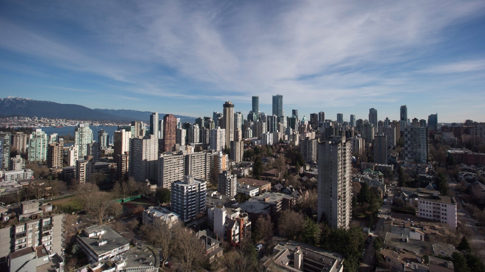 Condos and apartment buildings are seen in downtown Vancouver, B.C., on Thursday February 2, 2017. THE CANADIAN PRESS/Darryl Dyck