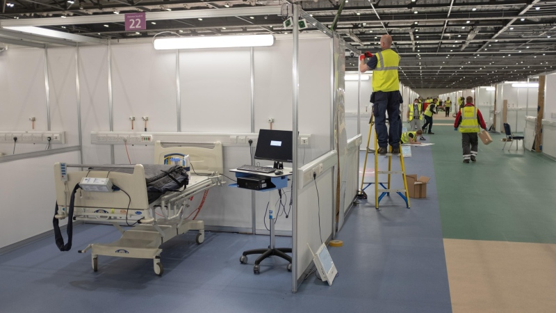 The United Kingdom will open the doors of a new intensive care unit at the ExCel Centre. (Mick Krever/CNN)