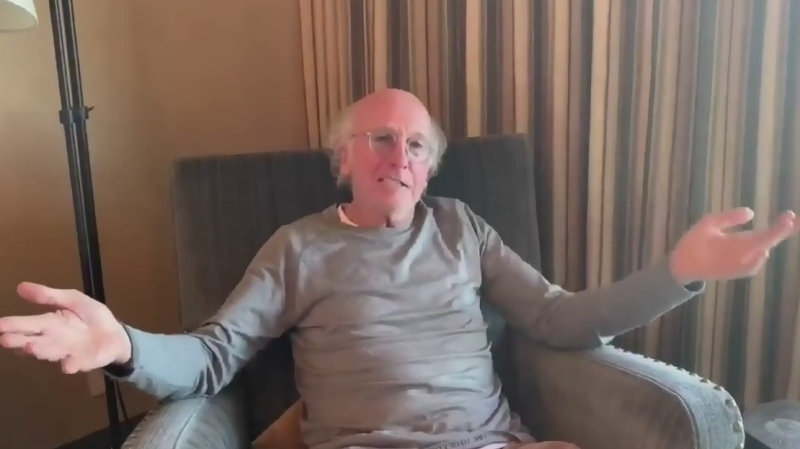 Comedian Larry David urges people to stay home