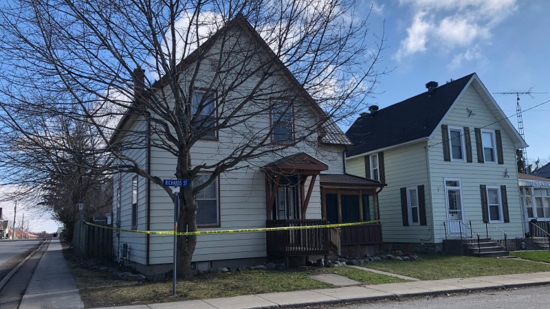 A man and a woman were found deceased inside a Brockville home on April 1, 2020 (Nathan Vandermeer/CTV News Ottawa)