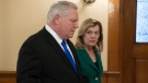 Premier Doug Ford and Health Minister Christine Elliott are seen in this photo. (The Canadian Press)