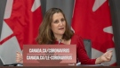 Freeland responds to question about rent payments