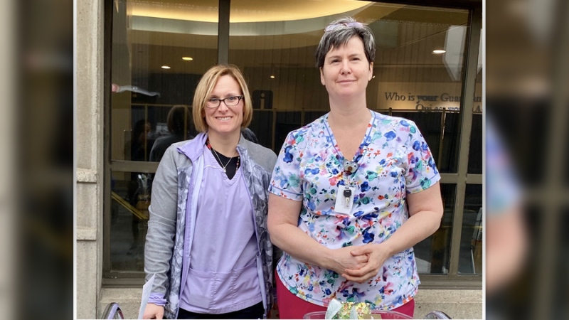 Kelly Jarvis & Kim Holmes - ICU nurses - The Ottawa Hospital-Civic Campus