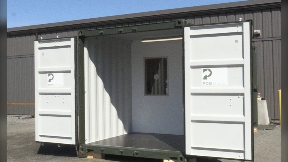 Shipping container to be used as medical station
