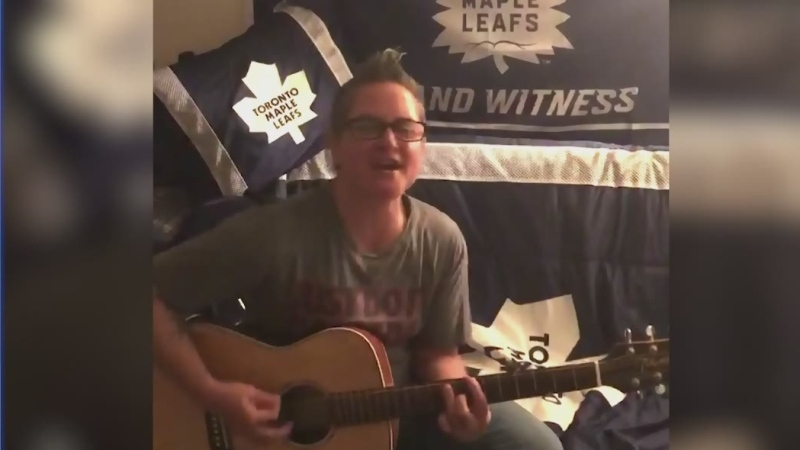 Watch Tony Ryma's interview with former Sudbury woman Stacey Jennings, who is a police officer and has written a song while in in isolation.