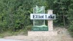 Elliot Lake Sign. April 1, 2020 (Alana Pickrell/CTV Northern Ontario)
