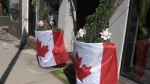 Flying the Canadian flag with pride