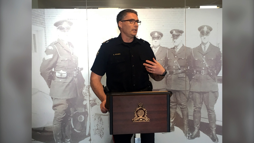 Lethbridge police chief Scott Woods