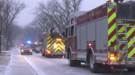 Regina first responders held a parade of lights to show their appreciation for health care workers amid the COVID-19 pandemic. (Katy Syrota/CTV News)