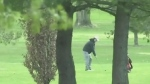 Golfer at Fanshawe Golf Course despite it being closed. (CTV London)